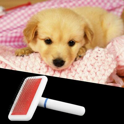 Pet Puppy Dog Cat Hair Grooming Trimmer Flea Comb Gilling Brush Slicker Tool Vl