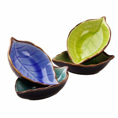 Leaf Ceramic Small Dish Ice Cracked Glaze Seasoning Sauce Vinegar ye
