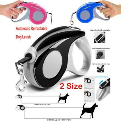 Automatic Retractable Dog Cat Leash Pet Collar Puppy Walking Traction Chain Rope