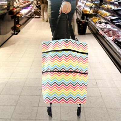 1PC Eco-Friendly Reusable Shopping Trolley Bag Shopping Bag with Wheels for Camp