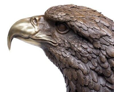 Bronze Sculpture of an Eagle, on a substantial Marble base. Art, Gift, Ornament.