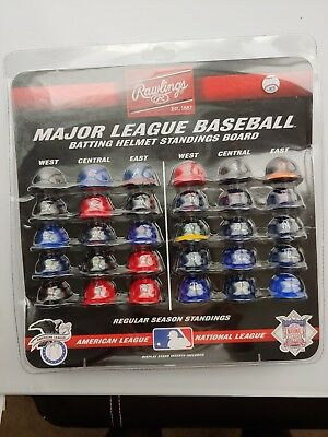 New Rawlings Major League Baseball Batting Helmet Standings Board