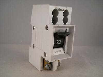 MK 60 Amp Main Switch Disconnector 60A Double Pole Isolator Sentry LN5560