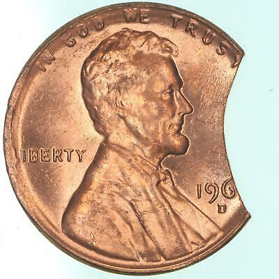 1960 - 1964 D Lincoln Memorial Cent BU Penny Last Digit Clipped Off 2.8 Grams