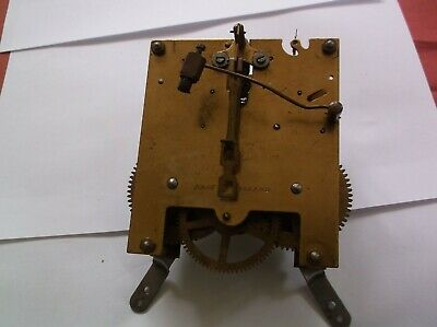 MECHANISM  FROM AN OLD ENFIELD MANTLE CLOCK working order ref AN9