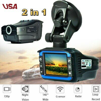 Car Hidden DVR Recorder HD Rearview Video Dash Cam Camera Laser Radar Detector