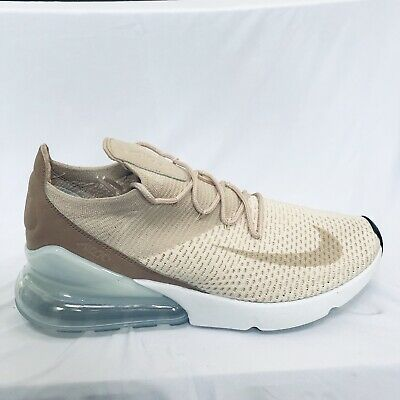Nike Women's WMNS Air Max 270 Flyknit, Guava ICEParticle Beige, 7.5 US