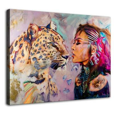"""12""""x16""""Abstract Panther HD Canvas print Painting Home paint Decor Photo Wall art"""