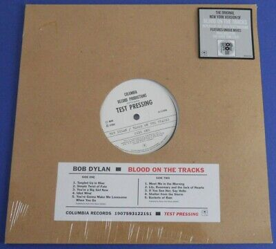 BOB DYLAN Blood On The T..Test Pressing LP Vinyl RSD 2019 Dispo, neuf & scellé