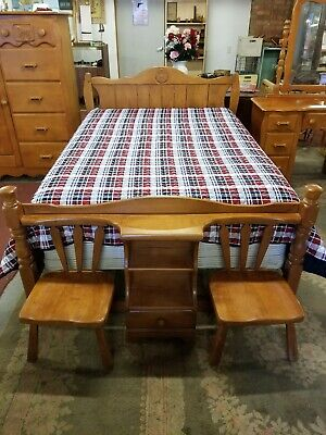 Vtg 1950 S 4 Pc Virginia House Western Cowboy Bedroom Set W Rare Chair Footboard