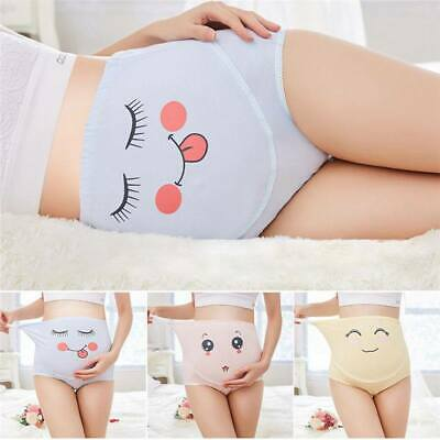 Pregnant Women Underwear Support Belly Funny Panties Cotton Adjustable Maternity