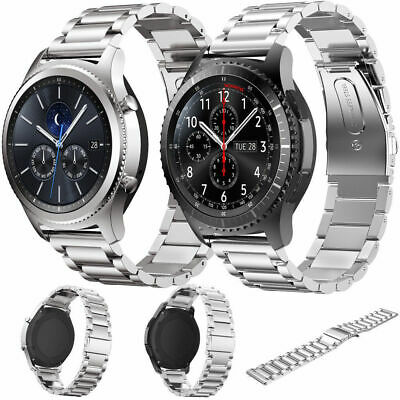 Milanese Bracelet + Stainless Steel Band for Samsung Gear S3 Smart Watch TH886