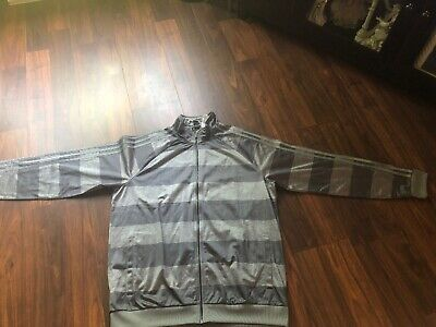 various colors 6a2ae eb21e New Adidas Men s Essentials 3-Stripe Track Jacket Dark Gray Gray Size Large