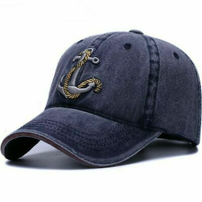 Cap Hat For Women Men Washed Soft Cotton Baseball Vintage Dad Hats Anchor Style