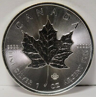 2014 Canada Maple Leaf .9999 Silver $5 Coin 1 oz bullion - Canadian - JX991