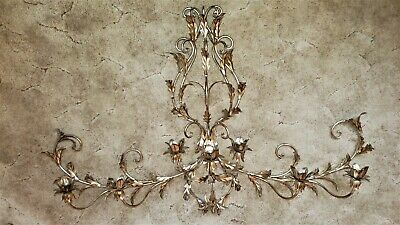 LG Hollywood Regency Rococo Wall Sconce Fixture RARE SILVER LEAF Art Sculpture