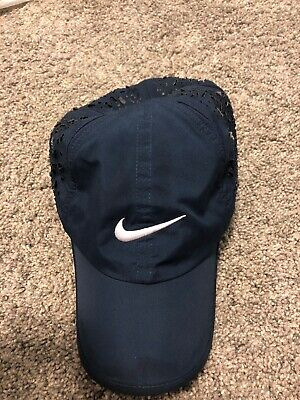 0e9fd8f0b8 Nike DriFit Featherlight Hat Cap Black Running Tennis Adjustable Strapback