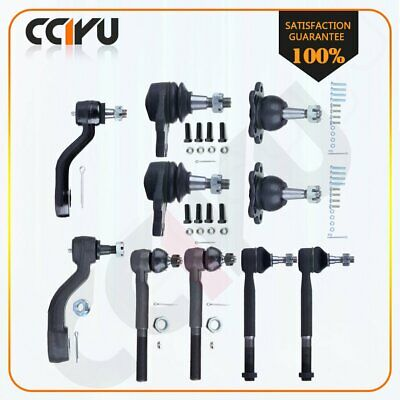 10 PCS Suspension Ball Joint Tie Rod End for 1993-1999 CHEVROLET K1500 SUBURBAN