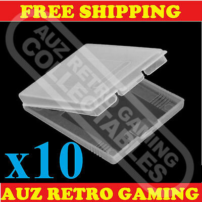 10x Clear Protective Game Cartridge Case Cover Nintendo GameBoy Color GBC GBP