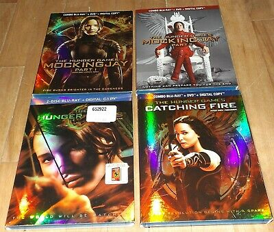 The Hunger Games 1 2 3 4 with SLIPCOVERS blu-ray Catching Fire Mockingjay part 2