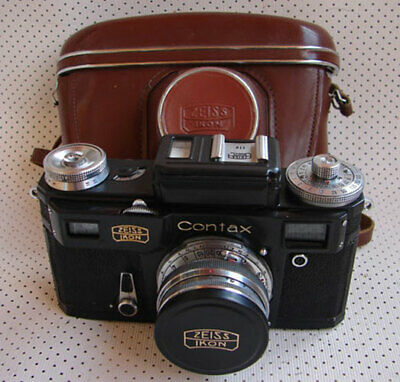 Soviet Russian copy of Contax IIIa Zeiss Ikon BLACK camera with Sonnar lens EXC.