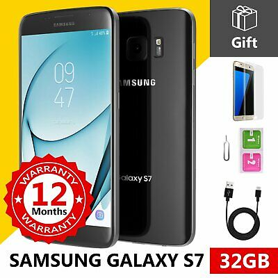 SAMSUNG GALAXY S7 32GB Unlocked 4G SIM Android Mobile Phone Black Onyx
