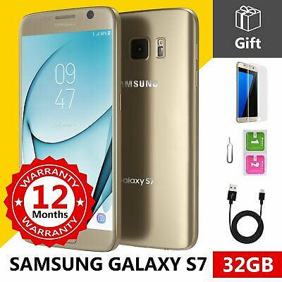 SAMSUNG GALAXY S7 32GB Unlocked 4G SIM Android Mobile Phone Gold Platinum