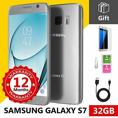 SAMSUNG GALAXY S7 32GB Unlocked 4G SIM Android Mobile Phone Silver Titanium