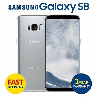 SAMSUNG GALAXY S8 64GB Unlocked 4G Android Mobile Phone Arctic Silver