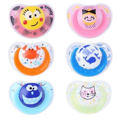 Newborn Baby Pacifier PP Silicone Nipple Soother Anti-dust Lid Infant Teether