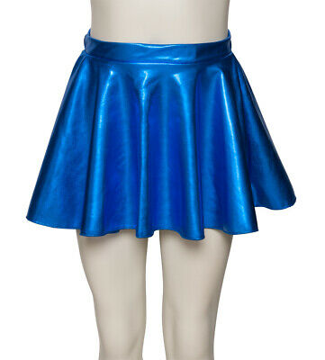 Royal Blue Shiny Metallic Dance Circular Skirt KDSK01 Katz Dancwear SECONDS