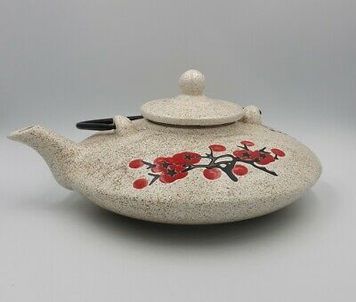 Theiere gres Japon fleur de cerisers zen méditation feng shui art table tea pot