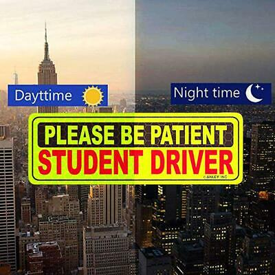 New Driver Please Be Patient Magnets Reflective Vehicle Car Signs For Beginner