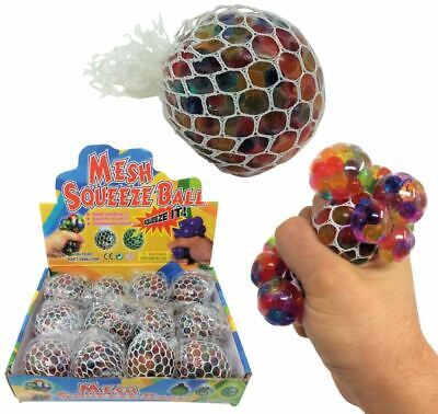 6cm Colourful Rainbow Mesh Ball Grape Squishy Stress Relief Kid Party Filler Toy