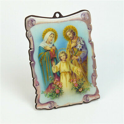 Wooden Religious Plaque With Holy Family Picture For All Occasions