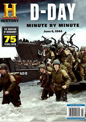 HISTORY Channel Magazine D-DAY Minute by Minute 75 Years Later Normandy NEW 2019