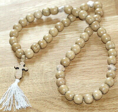 Big Orthodox Russian Greek Wood Chotki 50 Monastery Handmade Rosary Prayer Beads