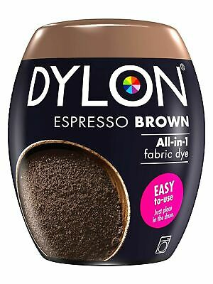 3 Dylon Machine Fabric Clothes Dye Textile Permanent Colour 350G ESPRESSO BROWN