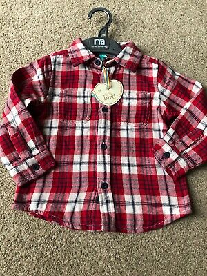 Little Bird By Jools Oliver Red Checked Shirt First Season 2012 12-18 Months