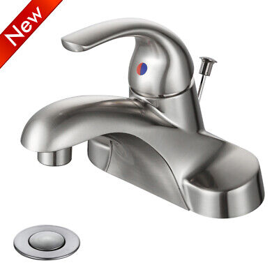 Brushed Nickel Bathroom Basin Sink Faucet Waterfall Spout With 6 inch Cover