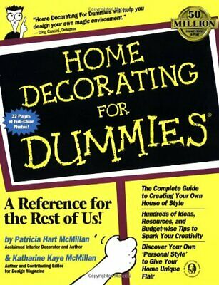 Home Decorating for Dummies by McMillan, Katharine Kaye Paperback Book The Cheap