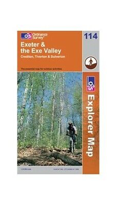 Exeter & the Exe Valley OS Explorer Map ... by Ordnance Survey Sheet map, folded