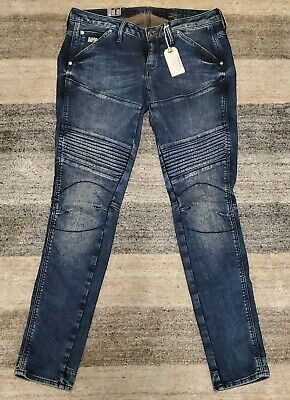cc0e343fdd5 NWT G - Star Raw Distressed Ribbed Jeans Super Skinny Leg For Women Size 28  X