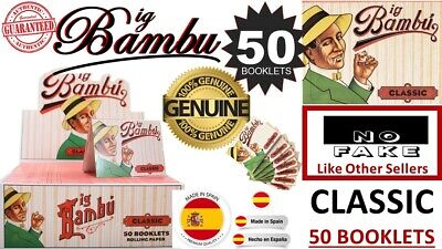 New BIG BAMBU CLASSIC 50 Booklet 100% Authentic Bambu (No Fake) Made in SPAIN 50