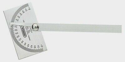 """General Tools 17 PROTRACTOR Stainless Steel Optimum Accuracy 11-3/4"""" L x 6"""" W"""