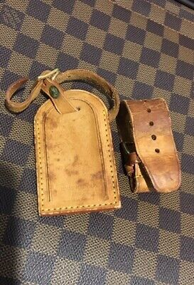 100% Authentic Louis Vuitton Large Luggage Name ID Tag - Made in France -2 PIECE