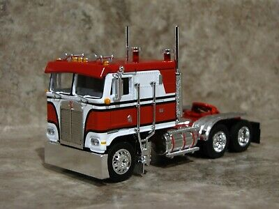 DCP 1/64 RED Black White Kenworth K-100 Cabover Semi Truck