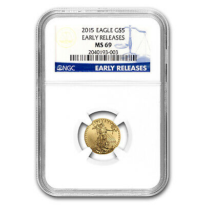 2015 1/10 oz Gold American Eagle MS-69 NGC (Early Releases) - SKU #86115