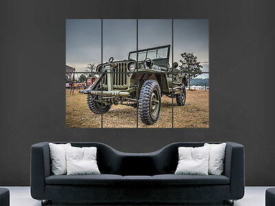 Army Jeep Art Picture Poster Photo Print 7CAR