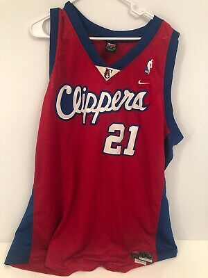 5427d7035cb Los Angeles Clippers Nike Darius Miles 21 Red Basketball Jersey XL Length  +2 Red